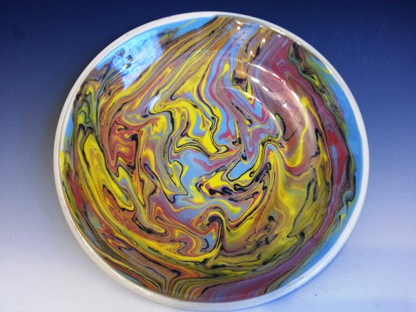 Jackson Pollack influenced plate